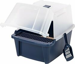 Covered Cat Litter Box With Lid Scoop Cleaning Grate Kit Cats Pet Box Durable $24.37