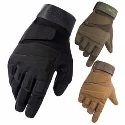 Tactical Full Finger Gloves Men#x27;s Army Military Hunting Sniper Paintball Airsoft $12.08