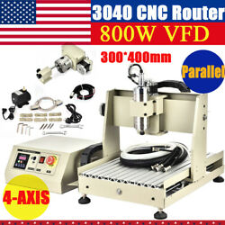 CNC 3040 800W Ball Screw Lathe Frame Engraving Milling Machine Wood Router Rack