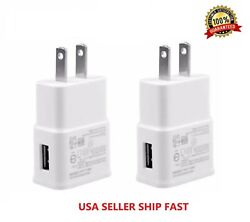 2 Pack 2AMP USB POWER ADAPTER WALL CHARGER For Universal SAMSUNG LG iPHONE $5.99