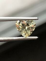 1.03 Ct GIA CERTIFIED VVS CLARITY LIGHT YELLOW HEART SHAPED DIAMOND ALL NATURAL