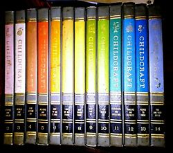 CHILDCRAFT 1964 Edition 2 to 14 and '61 Supplement vintage books