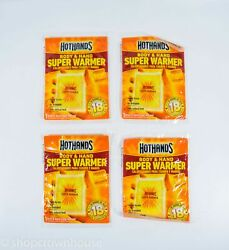 4 Hot Hands Body and Hand Warmers - Up to 18 Hours of Heat EXP 102021 NIP $7.89