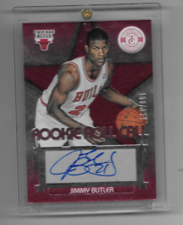 JIMMY BUTLER 2012-13 Totally Certified ROOKIE Roll Call RED AUTO 51199 HoF MVP