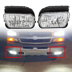 Bumper Fog Lights Lamps Pair Left+Right For 2003-2006 Chevy Silverado Avalanche $29.77