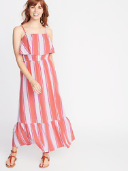 NWT Old Navy Ruffle Tiered Waist Defined Maxi for Women XS $18.00