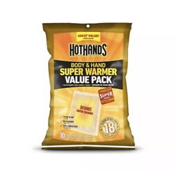 Hothands Body And Hand Super Warmer 10 Pad Value Pack - FREE Shipping USA Seller $16.50