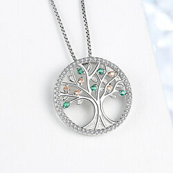 REAL SOLID SILVER 925 Classic Sterling Silver Necklace & Pendant Tree of Life-18