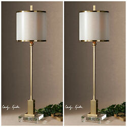 PAIR VILLENA 35quot; HOME DECOR CONTEMPORARY TABLE LAMPS UTTERMOST $514.80