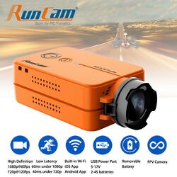 RunCam 2 HD 1080p Wide Angle Mini FPV Video Camera w Battery for Racing Drone RC $85.95