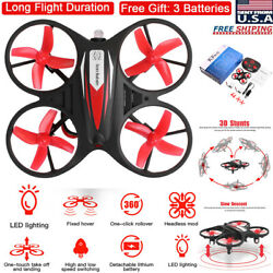 Mini LED RC Drone Helicopter Remote Control GYRO Kids Gift Quadcopter Headless $26.89