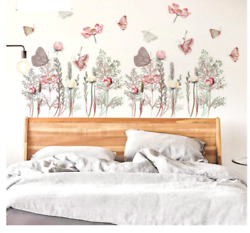 Beautiful Butterflies Wall Stickers Flowers Bouquet Wall Art Decals 40x60 cm $13.00