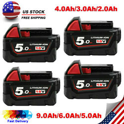 4) For Milwaukee M18 Lithium XC 5.0 Ah Extended Capacity Battery Pack 48-11-1852 $22.99