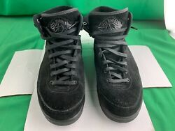 NIKE 2017 Air Jordan 2 Retro Decon Black Athletic Shoes 897521 010 Size 8.5