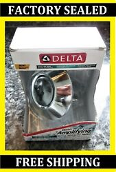 Delta Faucet 2-Spray Water Amplifying H2OKinetic Chrome 75152 Shower Head -- NEW