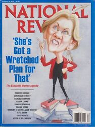 National Review She's Got A Wretched Plan For That October 14th 2019Magazine New
