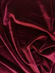 French Wine Red 4 WAY Spandex Stretch Velvet Fabric By The Yard Smooth Back $12.99
