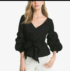 BELL-SLEEVE POPLIN SHIRT White House black Market