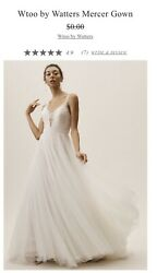 Beautiful Wtoo by Watters Mercer wedding gown size 14 BHLDN Plus Tulle NWT $700.00