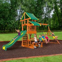 Wooden Swing Set Cedar Outdoor Playground Kids Backyard Playset Discovery Tucson