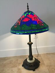 Stained Glass Table Lamp large $500.00
