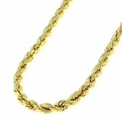 10k Real Yellow Gold 4mm Diamond Cut Rope Chain Necklace Lobster Clasp 16quot; 32quot; $249.99