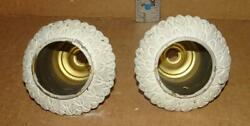 VTG Art Deco Socket Cups w Bobeches Antique Brass Chandelier Socket Covers 4 Pc $15.99