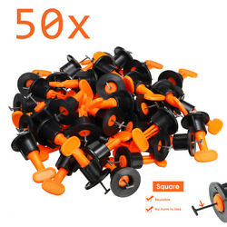 50x Flat Ceramic Floor Wall Construction Tools Reusable Tile Leveling System