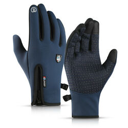 Bike Gloves Winter Thermal Warm Non slip Full Finger Cycling Glove Touch screen $10.99