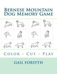 Bernese Mountain Dog Memory Game: Color Cut Play $11.99