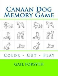 Canaan Dog Memory Game: Color Cut Play $11.99