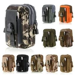 Military Tactical Molle Belt Waist Bag Outdoor Hiking Phone Pack Pouch Pocket $6.89