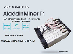 Aladdin T1 32TH's Bitcoin miner Antminer Bitmain ASIC mining machine DragonMint