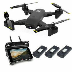 Cooligg Quadcopter Drone With HD Camera Selfie WiFi FPV Foldable RC 3 Batteries $71.99