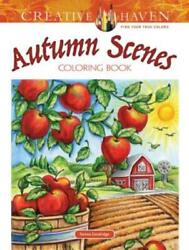 Adult Coloring: Creative Haven Autumn Scenes Coloring Book by Teresa... $7.23