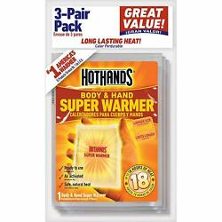 HotHands Body Hand Super Air Activated Warmer Safe Natural Odorless 3 per Pack $5.89