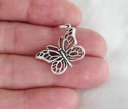 Sterling Silver Monarch Butterfly charm $8.40