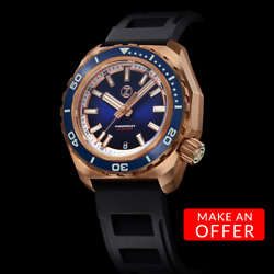 ✅ ZELOS HAMMERHEAD 2 ETA BRONZE MIDNIGHT BLUE INTERNATIONAL SHIPPING US DEALER $749.00