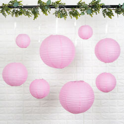8 PINK Assorted Sizes Hanging Paper Lanterns Party Wedding Events Decorations $8.81