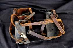 Vintage Gifford Wood Ice Shoe Cleats Ice House Fishing Snow Cleats Strap on $60.00