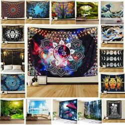 USA Psychedlic Mandala Tapestry Hippie Room Wall Hanging Blanket Art Home Decor $15.19