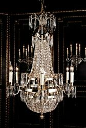 Swedish Empire Ceiling Crown Chandelier Chandelier Classicism Antique