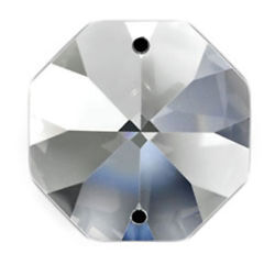 Set of 125 14 mm Clear Asfour Crystal 1080 Octagon Crystal Prisms 2 Hole $10.99