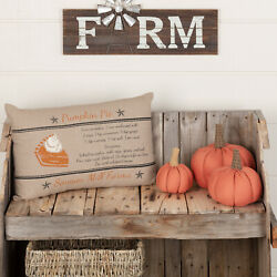 Sawyer Mill Pumpkin Throw Pillow Decorative For Couch 14x22 Cover Insert $23.95