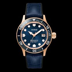 ✅ AUDAZ BRONZMATIC BLUE BRONZE 200M DIVER INTERNATIONAL SHIPPING 🇺🇸 DEALER $575.00