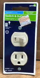 New Leviton Switch amp; Outlet Ivory 15A 120VAC 15A 125V Single Pole No. 5225.
