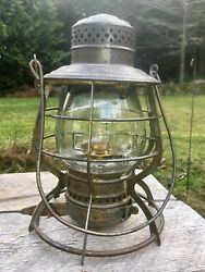 1897 GNRy Great Northern Railway Lantern THE ADAMS Clear Ext. Base Globe $475.00