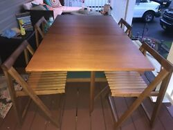 Vintage Danish Mid Century 1960s Hide Away Style Teac Table Set. Immaculate Cond