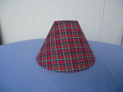 tartan lamp light shade ( multiples available) red new