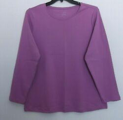 CJ Banks Solid Light Purple Lavender knit top long sleeve Sizes 1X 2X NWT $15.00